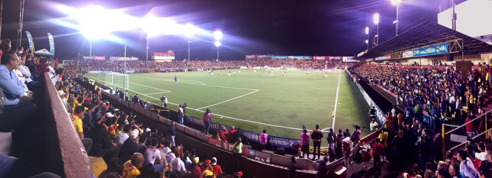 Localización: Heredia, Costa Rica. Propietario: Asociación Deportiva Club Sport Herediano Detalles técnicos:Superficie: Césped Sintético. Dimensiones: 105 x 68 m. Capacidad: 8.700 espectadores. Apertura: 1951