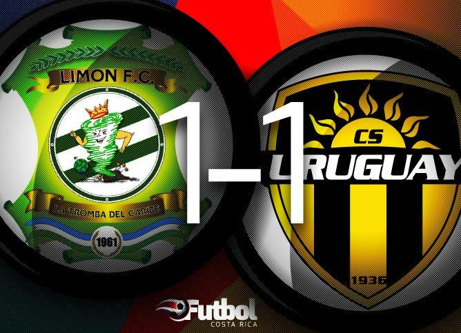 Con este empate, los limonenses quedan en la posicion 10, mientras Uruguay se queda en la última posición.