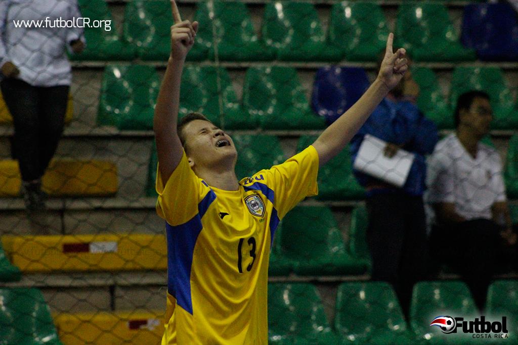De esta manera Amanda Lyssa De Oliveira celebró el gol que le dio el pase a la siguiente ronda.