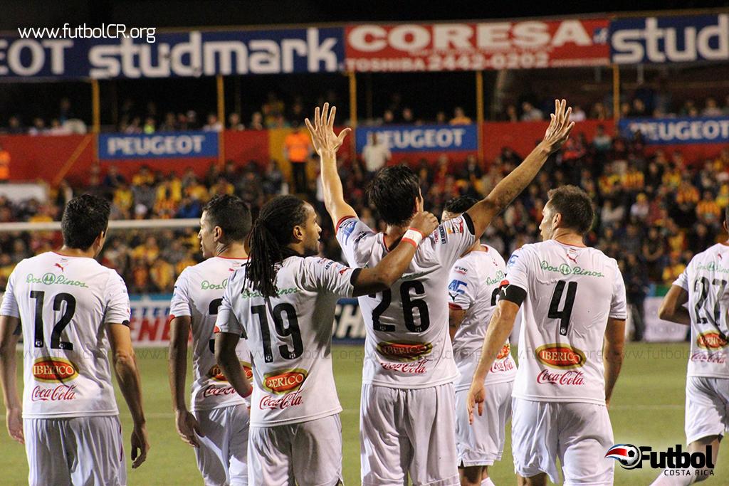 Con solo una jugada de balón parado le bastó a los manudos para sacar la victoria. Foto: Rubén Murillo para Futbol Costa Rica