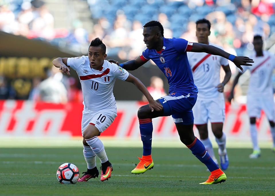 Haití persiguió a Perú todo el juego el domingo anterior, sin embargo el esfuerzo no bastó y cayeron ante los hoy líderes de grupo. Foto: Conmebol