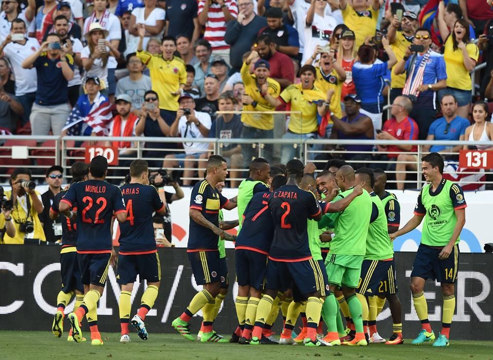 Contundente. Colombia liquidó a Estados Unidos en la primera parte. Foto: Conmebol